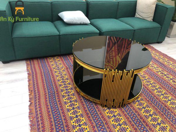 Bàn trà inox mạ vàng royal BT1702 của Nội Thất An Kỳ