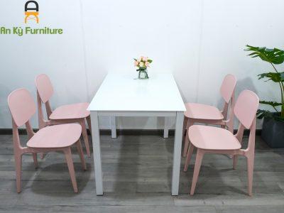 Combo bàn ăn bunny MB01 dành cho 1 bàn 4 ghế của Nội Thất An Kỳ