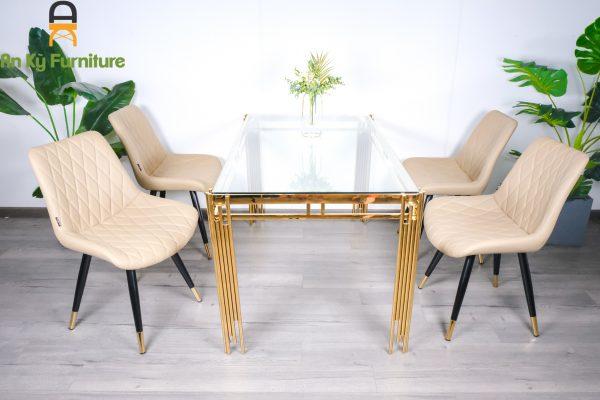 Combo bàn ăn VA117 dành cho 1 bàn 4 ghế của Nội Thất An Kỳ
