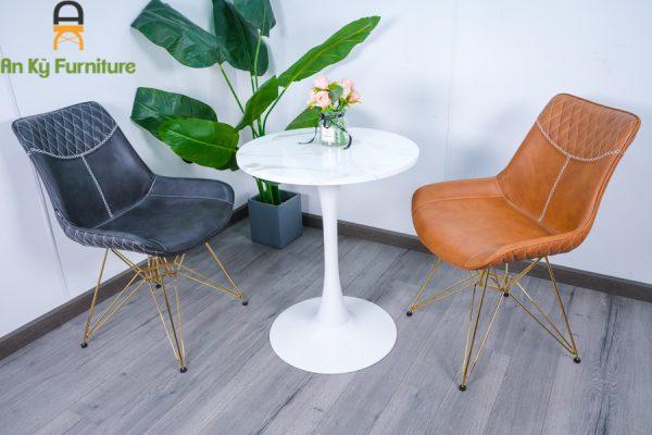 Bàn Cafe Tlup S60 của Nội Thất An Kỳ - Ankyfurni.vn , với chất liệu chân sắt sơn tĩnh điện , mặt gỗ giả đá