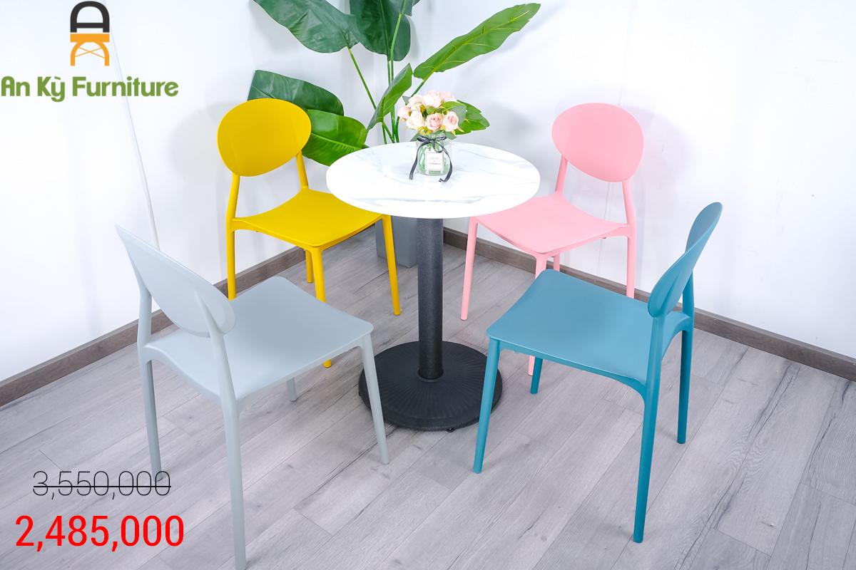 Combo Bàn Cafe Nedin T007JC20 dành cho 1 bàn 4 ghế