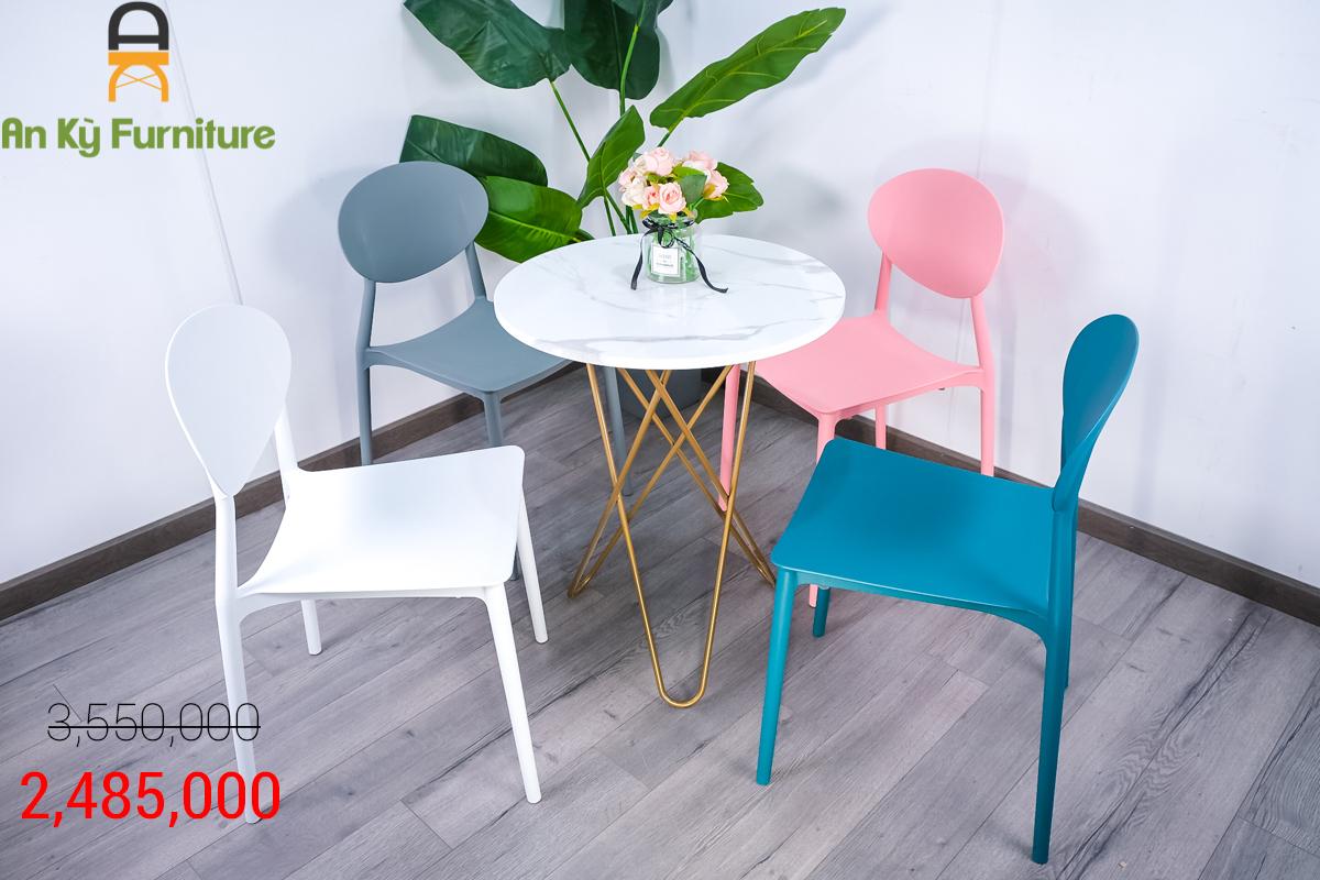 Combo Bàn Cafe Nedin T008JC20 dành cho 1 bàn 4 ghế