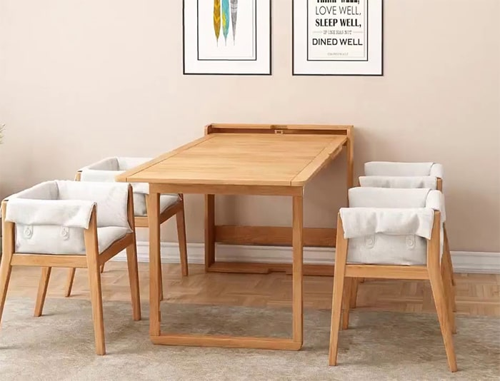 Bộ bàn ăn treo tường thông minh