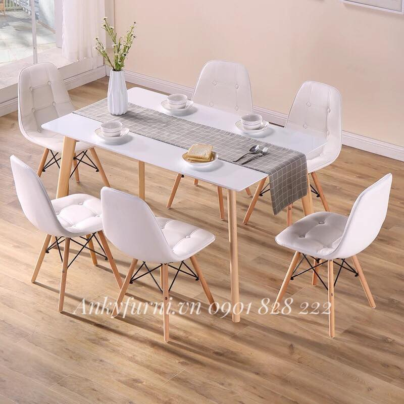 Bộ bàn ăn đẹp, hiện đại toát lên vẻ trang nhã cho căn phòng
