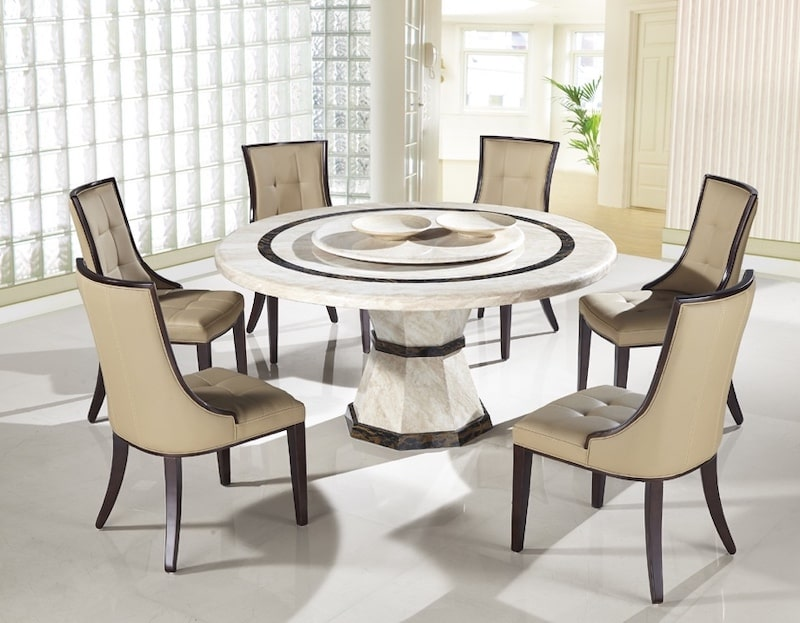 Bộ bàn ăn tròn 6 ghế kiểu dáng sáng tạo