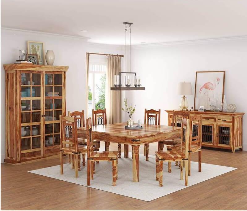 Bộ bàn ăn gỗ hai màu mới lạ