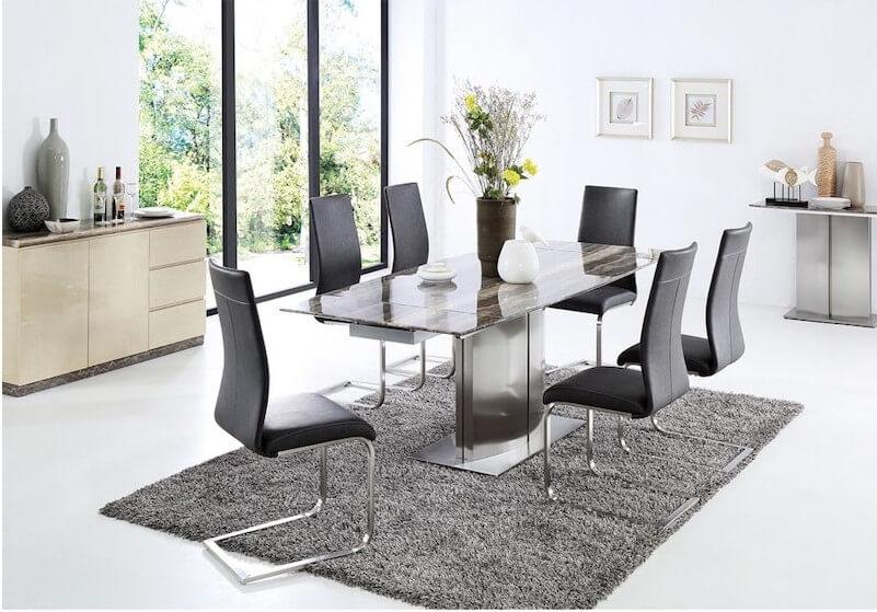 Bộ bàn ăn 6 ghế phá cách, độc đáo