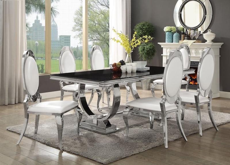 Bộ bàn ăn 6 ghế phong cách đậm chất châu Âu
