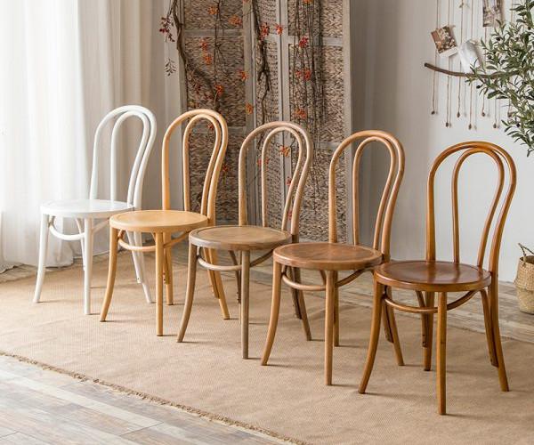 Mẫu ghế cafe bằng gỗ