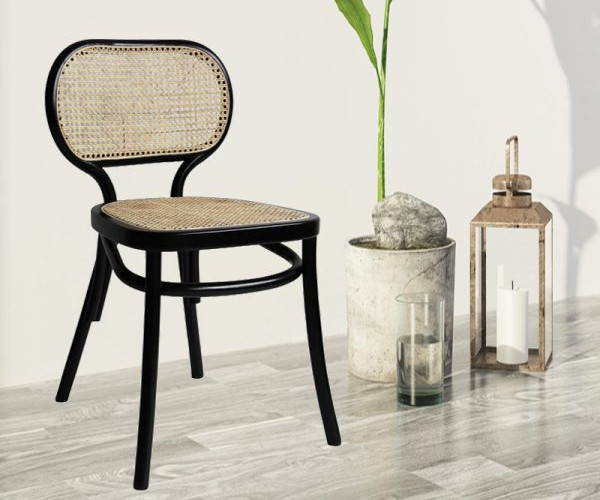Mẫu ghế cafe đan