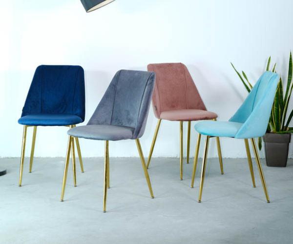 Mẫu ghế quán cà phê lót vải màu