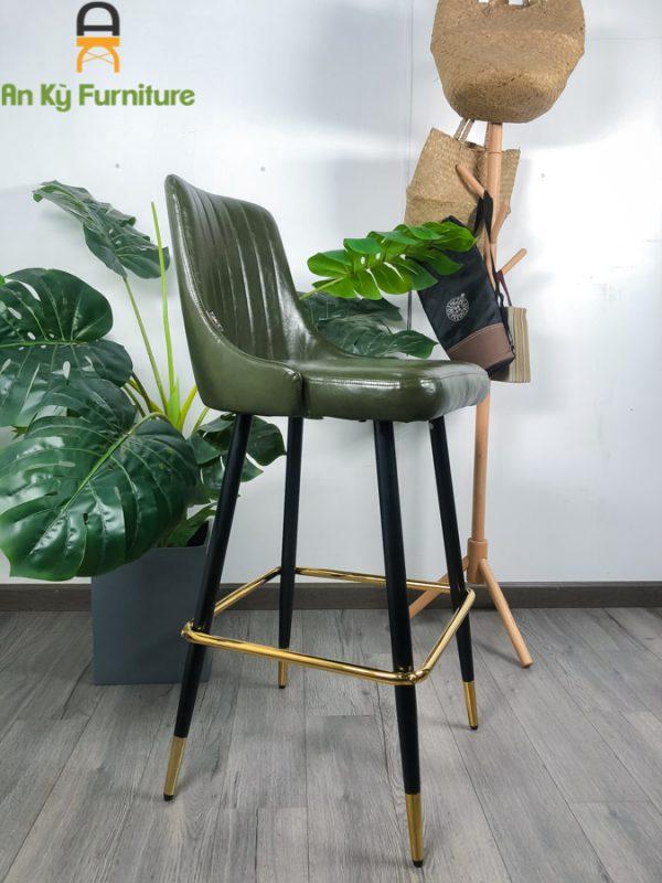 Ghế Bar Cafe Aster Stool 269 của Nội Thất An Kỳ - Ankyfurni lưng ghế bọc nệm simili , chân sắt sơn tĩnh điện