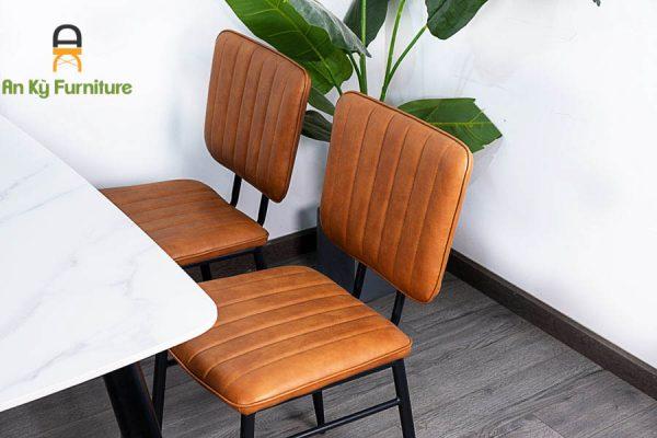 Combo bàn ăn Aster T140237 của Nội Thất An Kỳ , Chân sắt sơn tĩnh điện , mặt đá thiêu kết , nệm bọc vỉa simili