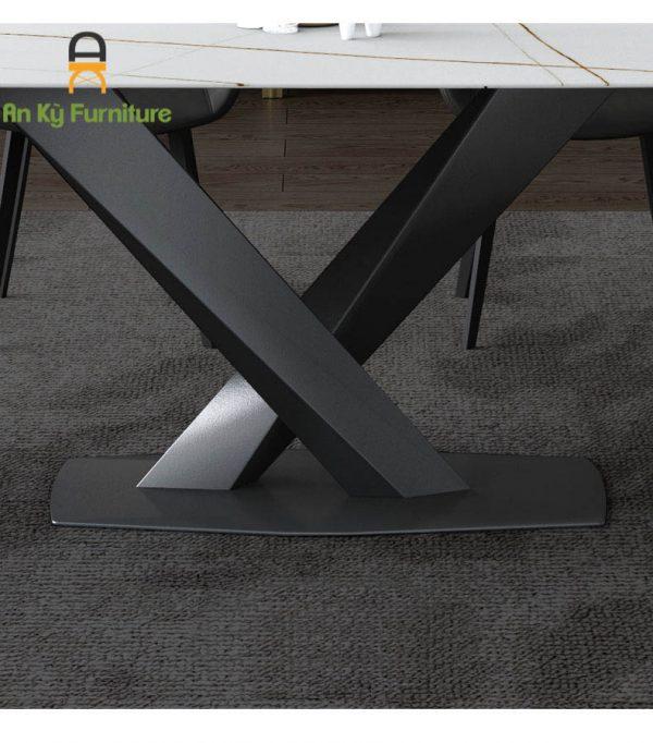 Bàn Ăn Stratos Mặt Đá Thiêu Kết 80x140 chân sắt sơn tĩnh điện của Nội Thất An Kỳ