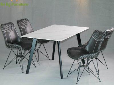 Combo Bàn Ăn Aster2522-187 dành cho 1 bàn 4 ghế (80X120)