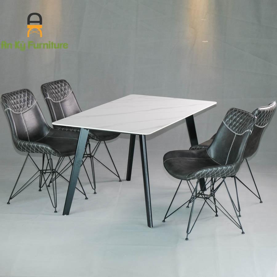 Combo Bàn Ăn Aster2524-187 dành cho 1 bàn 4 ghế (80X140)