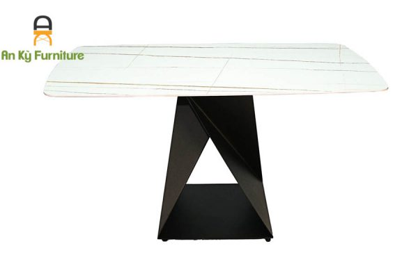 bàn ăn chân sắt sơn tĩnh điện mặt đá thiêu kết Olwen 207 của Nội Thất An Kỳ - Ankyfurni