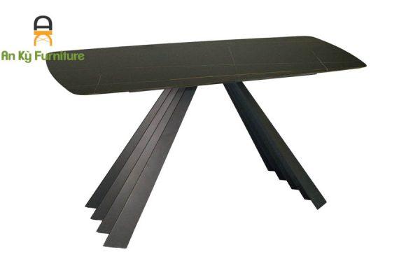 bàn ăn chân sắt sơn tĩnh điện mặt đá thiêu kết audrey 209 của Nội Thất An Kỳ - Ankyfurni