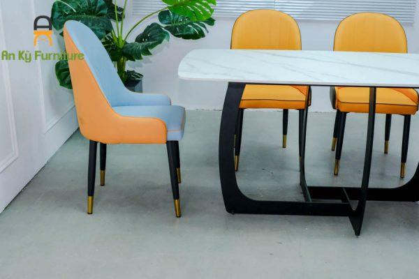 Combo bàn ăn Keva622 của Nội Thất An Kỳ - Ankyfurni với chất liệu chân sắt sơn tĩnh điện , mặt đá thiêu kết