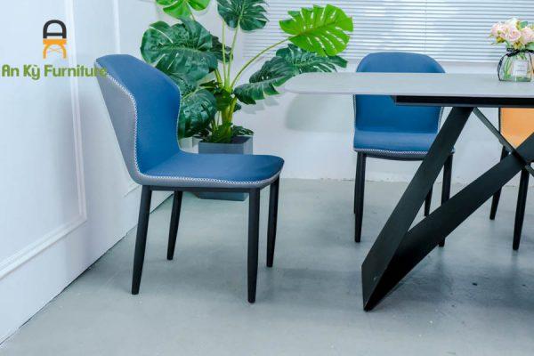 Combo bàn ăn Adela182 Của Nội Thất An Kỳ - Ankyfurni với chân sắt sơn tĩnh điện , mặt đá thiêu kết