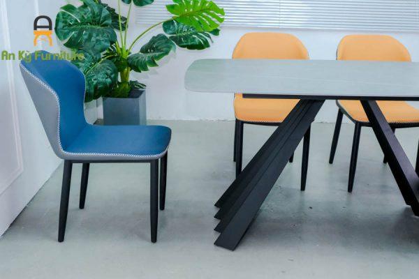 Combo bàn ăn audrey182 của Nội Thất An Kỳ - Ankyfurni với chất liệu sắt sơn tĩnh điện , mặt đá thiêu kết