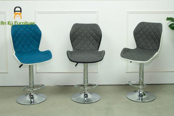 Ghế Bar Cafe JB-453 Của Nội Thất An Kỳ - Ankyfurni với chất liệu chân sắt xi mặt nhựa bọc nệm vải bố