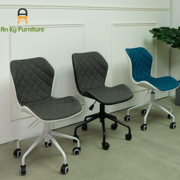 Ghế Làm Việc JB-453X vói chất liệu chân sắt sơn tĩnh điện , mặt nhựa PP nệm vải bố của Nội Thất An Kỳ - Ankyfurni