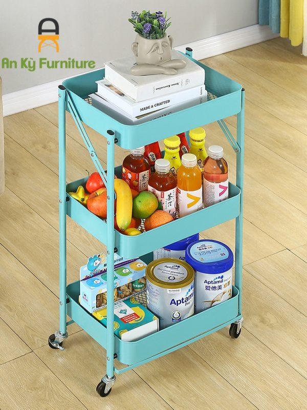 Kệ Để Đồ Gấp Gọn Thông Minh Đa Năng Có Bánh Xe Cao Cấp Của Nội Thất An Kỳ - Ankyfurni.vn