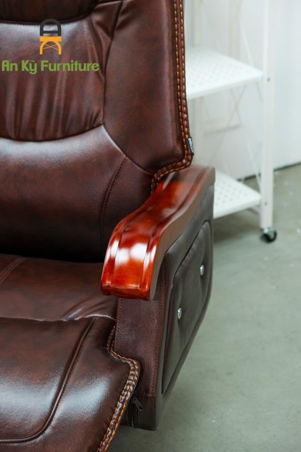 Ghế Giám Đốc Văn Phòng Chân Xoay Ngã Lưng JO-457 của Nội Thất An Kỳ - Ankyfurni với chất liệu gỗ cao cấp , simili có thể ngã lưng được