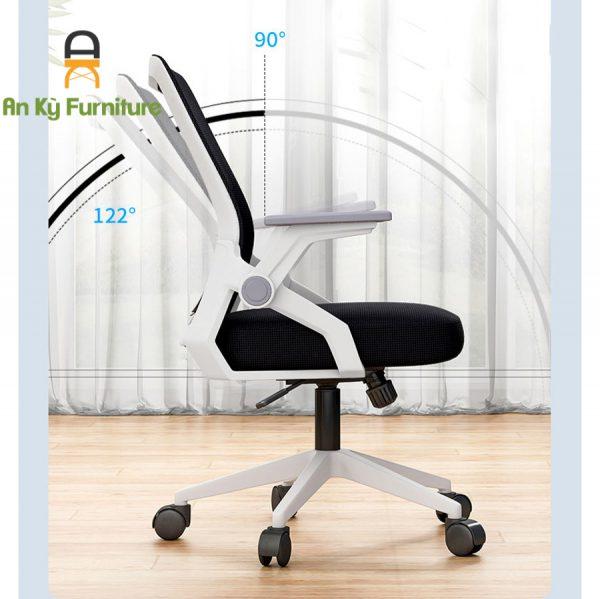 Ghế Làm Việc Văn Phòng Chân Xoay JS-872T của Nội Thất An Kỳ - Ankyfurni.vn với chất liệu chân nhựa PP , lưng lưới nệm , có thể nâng hạ được