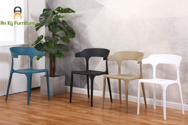 Ghế Cafe Nhựa PP 3001 đúc nguyên khối của Nội Thất An Kỳ - Ankyfurni
