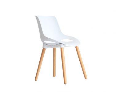 Ghế Cafe 9305 Nhựa PP chân gỗ của Nội Thất An Kỳ